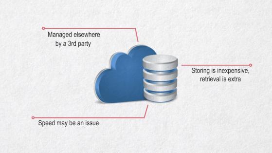 Cloud storage considerations