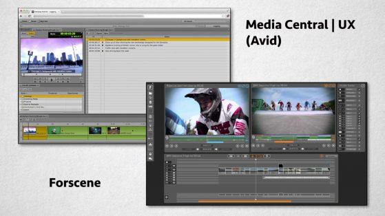 Screenshots of Avid Media Central | UX and Forscene