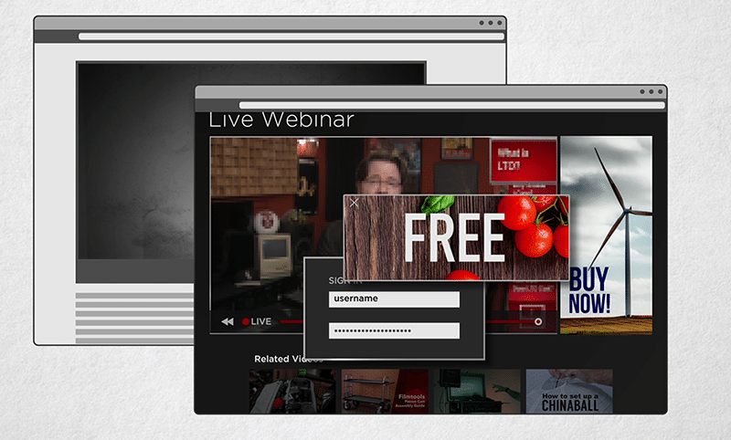 CDNs may throttle visual quality, allow for password protected streams, and also present the end user advertisements.
