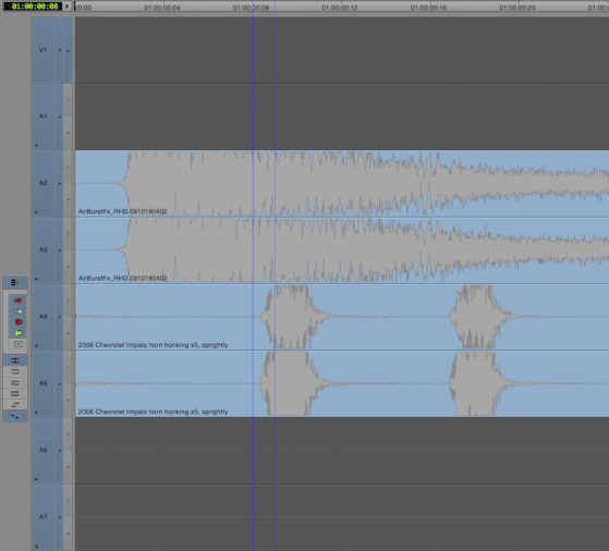Incorrect audio track layout: even-odd pairs