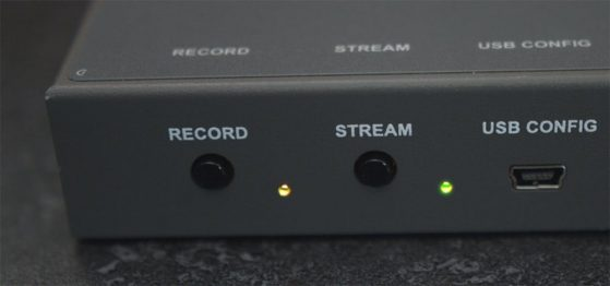 Front buttons on the Helo to trigger recording or streaming independently