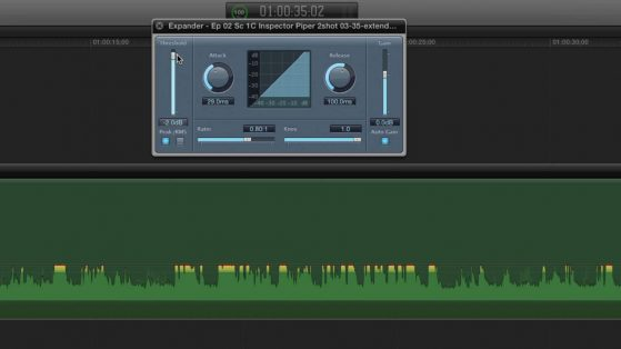 Example of an expander found in FCP X.