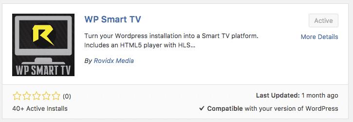 WP Smart TV WordPress plugin