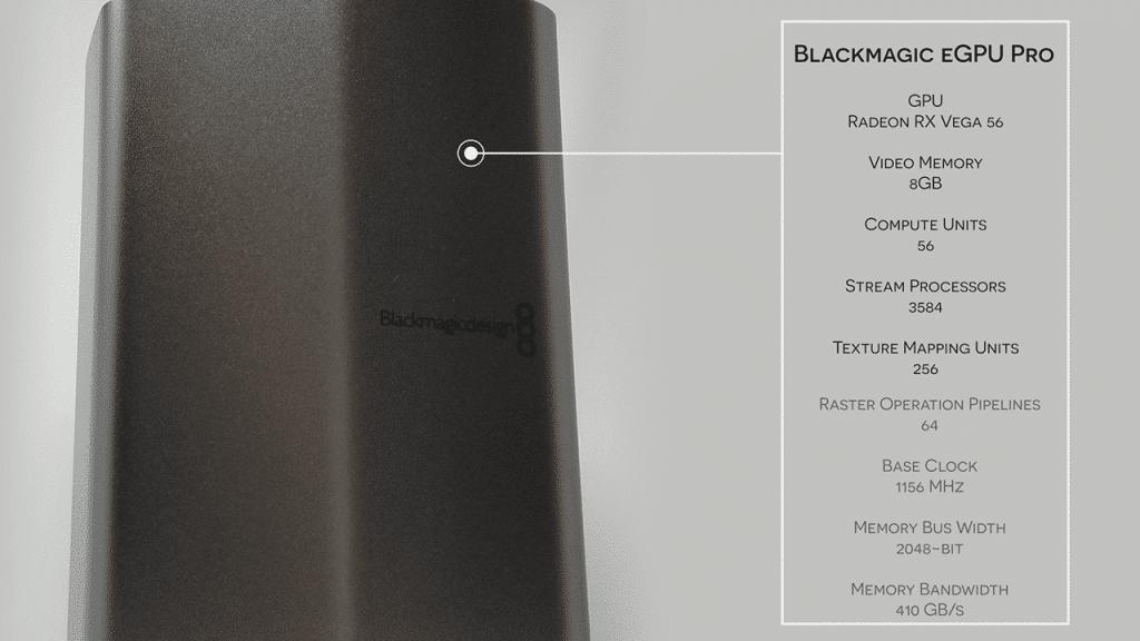 S03E04 2018 Mac Mini and Blackmagic eGPU Pro_eGPU Pro specs