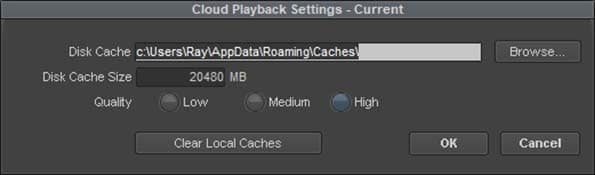 Media Composer Cloud Remote Proxy Settings